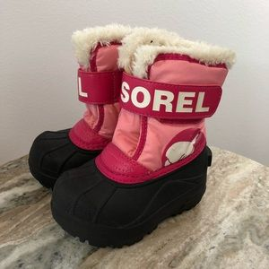 Sleep youth snow boots size 6 shearling pink
